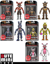 "FUNKO FIVE NIGHTS AT FREDDY'S SERIES 2 NIGHTMARE 5"" SET OF 5 ACTION FIGURES"