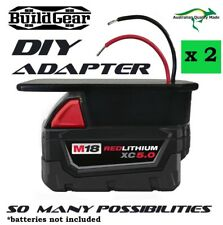 2 x DIY Project Milwaukee M18 Battery Adapter