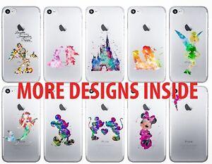 Disney iPhone Case Watercolour Princess Characters Phone Cover 5 C 6 7 8 X 11 12