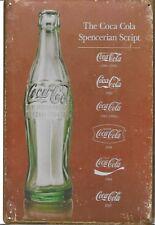 New Vintage Style Retro Metal Wall Hanging Sign Single Iconic Coke Bottle