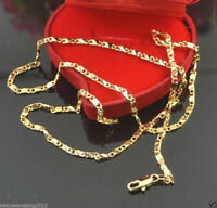 "18K Yellow Gold Men Women Chain Necklace Link Chain 20""Fashion Jewerly"