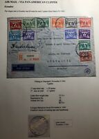 1941 Tilburg Netherlands Censored Clipper Airmail Cover To Guayaquil Ecuador