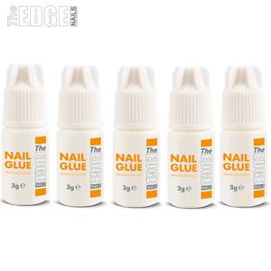 5 x The Edge Nail Glue Super Strong Adhesive For False Nail Tips Extensions
