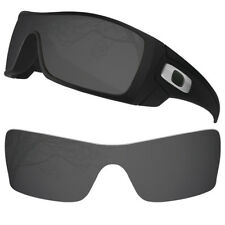 Dynamix Polarized Solid Black Replacement Lenses for Oakley Batwolf Sunglasses