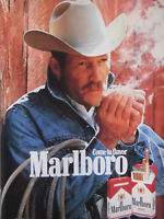 PUBLICITÉ DE PRESSE 1987 COME TO FAVOR MARLBORO THE NUMBER ONE - COW-BOY