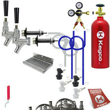 Kegco Deluxe Homebrew Two Tap Kegerator Conversion Kit with 5 lb. CO2 Tank