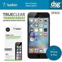 """BELKIN SCREEN GUARD LCD PROTECTOR FOR APPLE IPHONE 6 PLUS 5.5"""" CLEAR NEW 3 PACK"""