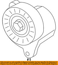 FORD OEM-Serpentine Fan Belt Tensioner BR3Z6B209E