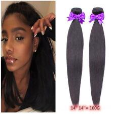 2 Bundles/100G Peruvian Virgin human hair Natural Color Straight hair bundles