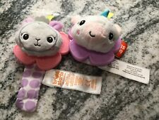 BRIGHT STARTS Lot Of 2 Baby Wrist Rattles. Excellent Condition.