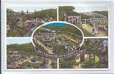 Postcard - Heysham Head Gardens Lancashire posted 1957
