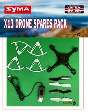 SYMA X13 RC Drone Crash Pack Kit Replacement Spare Parts Blades & charger