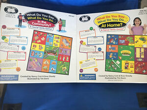 super duper Publications-social skills game-2 Games-what Do You Say-comm&home