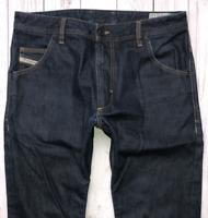 Mens DIESEL Krooley Jeans W32 L32 Dark Blue Regular Slim Carrot Wash 0088Z
