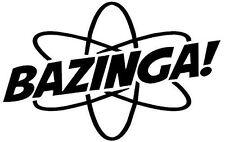 Big Bang Theory Bazinga! Atom Autocollant Vinyle Autocollant Pour Voiture/Fenêtre/Mur