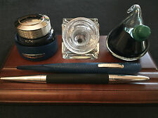 "JORG HYSEK Meta Design FP black  +  Ink ""Fountain Pen"" a immersione + inkwell"
