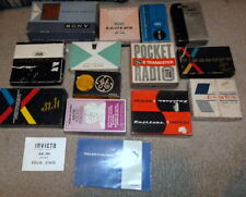 Lot of Transistor Radio BOXES - VARIOUS CONDITION