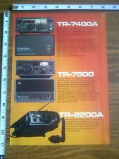 1977 ad page - Kenwood TR-7400A  TR-7500 T-559D Radio Transceiver  ADVERTISING 1