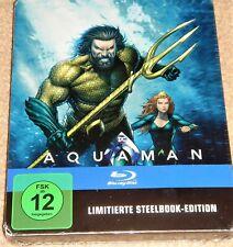 Aquaman Illustrated Steelbook Blu Ray/ Import / REGION FREE / WORLDWIDE SHIPPING
