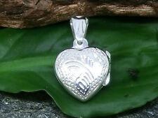 Decorada Medallón de Corazón 925 Plata de Ley Colgante Amor para Abrir