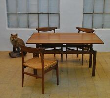 CONVERTIBLE TABLE I MODEL No. 64 I VERWANDLUNGSTISCH TEAK I NILS BACH I DANISH