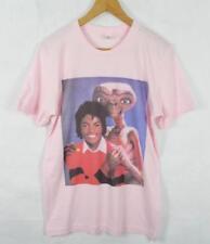 Michael Jackson & E.T Soft Pink T-Shirt Size S-XL Supreme Vintage Retro Thriller