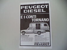 advertising Pubblicità 1981 PEUGEOT 504 PICK-UP/J9 FURGONE