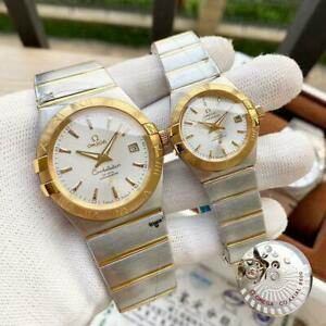 Omega Men Constellation Automatic/SS/18K Chronometer Speedmaster Gold Men Watch