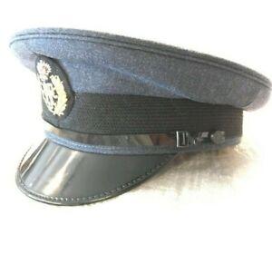 RAF Peaked Cap With Badge Royal Air Force Blue Dress Hat Army Military Surplus