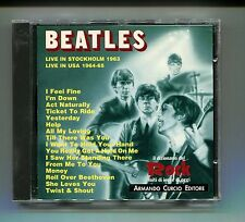 BEATLES # LIVE IN STOCKHOLM 1963 LIVE IN USA 1964-65 # Curcio # CD Rock
