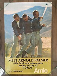 VTG PGA Golf Arnold Palmer Broadway Plaza Photo Quality 23x36 Poster RARE