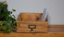 Casier Rangement En Bois Acajou Style Rustique Retro Vintage Marron Ancien