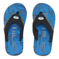 Animal Boys Kids Jekyl Logo Flip Flops | Seaport Blue