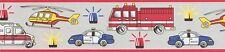 EUR 2,89/m / Bordüre P+S 13623-10 Hubschrauber Feuerwehr Kinderzimmer Grau Rot