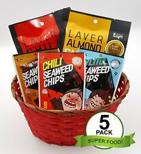 K-Food 5 Package of EYN Seaweed Chili Snack- Superfood from Ocean Healthy Snack