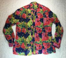 W118 By Walter Baker SZ M Blouse Floral Button Up Top Mandarin Collar India