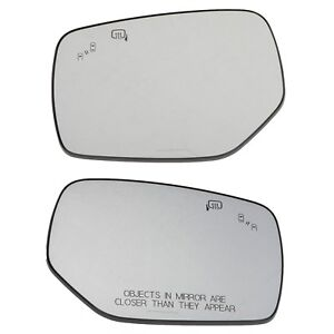 OEM 15-18 Subaru Left & Right Side View Mirror Glass Set Legacy Outback WRX STI