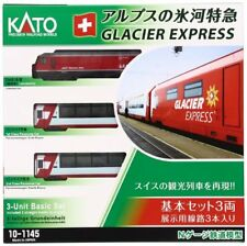 Kato 10-1145 10-1146 Swiss Alps Glacier Express 7 Cars Complete Set - N
