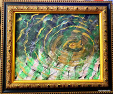ORIGINAL PUKSAR Fine Art Paintng Canvas FRAMED Lake Series 2020 Abstract Surreal