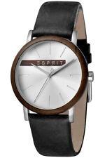 Esprit Uhr Uhren Herrenuhr ES1G030L0035 Plywood Silver Black Armbanduhr NEU