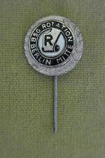 DDR Ehrennadel - Anstecknadel - BSG Rotation Berlin Mitte - Silber - emailliert