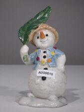 +# A008610 Goebel Archivmuster Weihnacht Schneemann auf Hawaii mit Palmenblatt