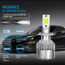 H7 COB 6000K 220W 24000LM LED Headlight Kit Driving Lamp High Power Bulbs Xenon