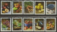 Scott #5484-93 Used Set of Ten, Fruits and Vegetables (Off Paper)