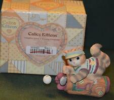 Calico Kittens: Laughter Drives A Winning Friendship figurine - Mib