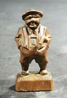 Vintage German Black Forest Brienz Wood Carving Miniature Man With Golf Club