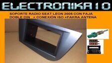 Marco radio Negro o Gris SEAT LEON 2005+Conexiones Iso +Adapt. Antena env. Urgen
