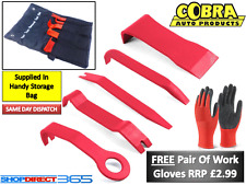 5PC COBRA CAR TRIM REMOVAL/PRY KIT Door Panel Dash Installation Tool Set (6-31A)