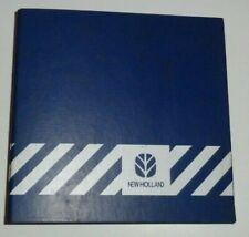 "* New Holland Dealers 3-Ring Parts Service Shop Manual Catalog Book Binder 4"" nh"