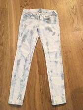 True Religion Jeans Mod Stella Batik blau weiß Gr 29 Top Zustand Skinny Stretch